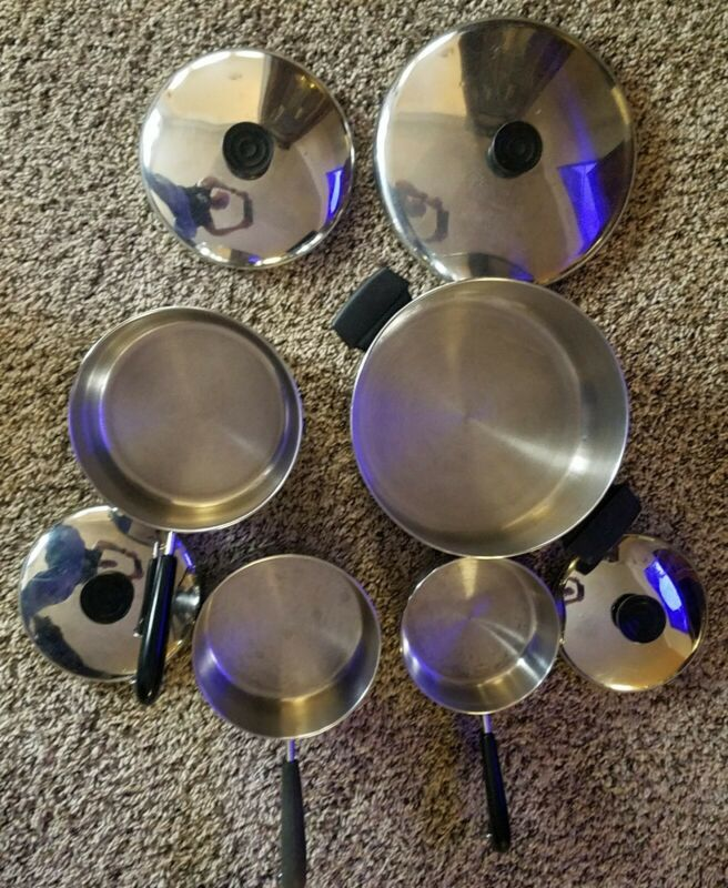 1801 Revere Ware Cookware Set Stainless Steel Bottom