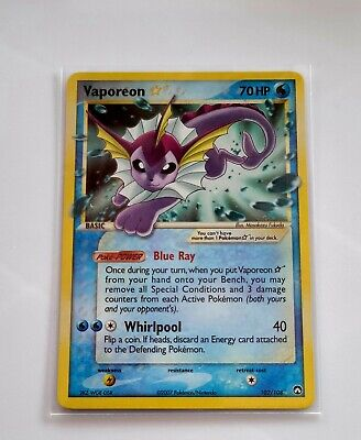 🔥 🔥 N/M  Pokemon GOLD STAR VAPOREON  102/108