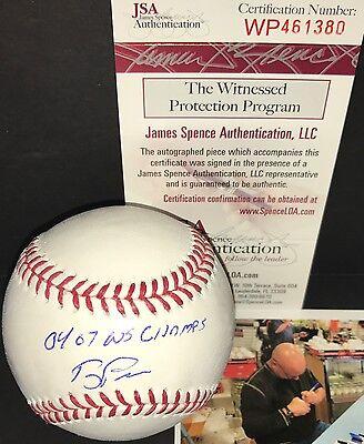 - Terry Francona Red Sox Signed Baseball JSA Witness COA