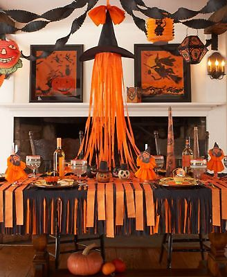 Orange Halloween Krepp Papier Luftschlangen Hängende Dekoration Basteln Display ()