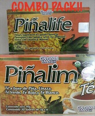 COMBO!!PIÑALIM TE PIÑALIM TEA BASE DE PIÑA LINAZA  + PIÑALIFE CAPSULAS 30