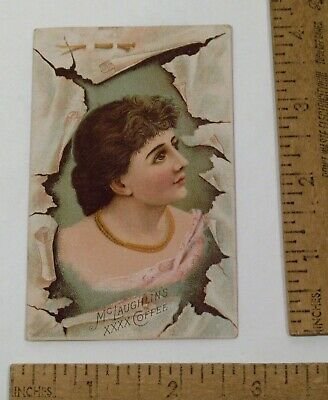 vintage COFFEE CARD - Young Lady - McLAUGHLIN'S XXXX COFFEE