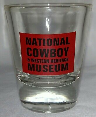 Vintage National Cowboy & Western Museum shot glass ONLY ONE ON EBAY!