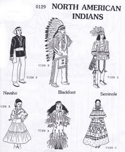 Northern Indians  outfits Doll Pattern For Barbie  and Ken Rare