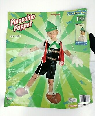 Pinocchio Puppet Marionette SMALL Storybook Fancy Dress Halloween Child Costume - Marionette Puppet Halloween Costume