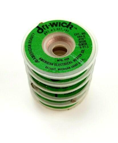 6 Dri-Wick American Beauty 5 Ft Rolls Desoldering Braid .075 484-3 30Ft Total