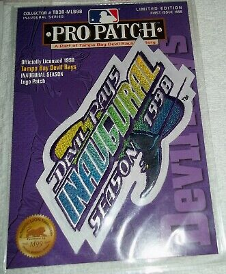 Tampa Bay Devil Rays Inaugural Season 1998 Limited Edition Pro Patch 1st Issue