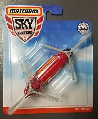 2019 Matchbox Sky Busters CH-47 CHINOOK FIRE RESCUE RED ~ BOX SHIP FREE!!