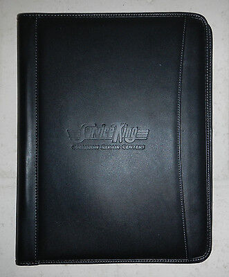 Service King Collision Repair Center Leeds Leather Writing Pad Padfolio Notebook