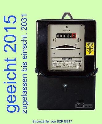 Wechselstromzähler 10/40A geeicht 2016, Zähler beglaubigt, Zwischenzähler Strom