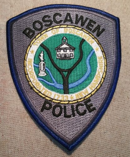 NH Boscawen New Hampshire Police Patch