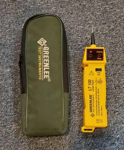 Greenlee LT-100 Lamp Tester  Distributor Sample With Case