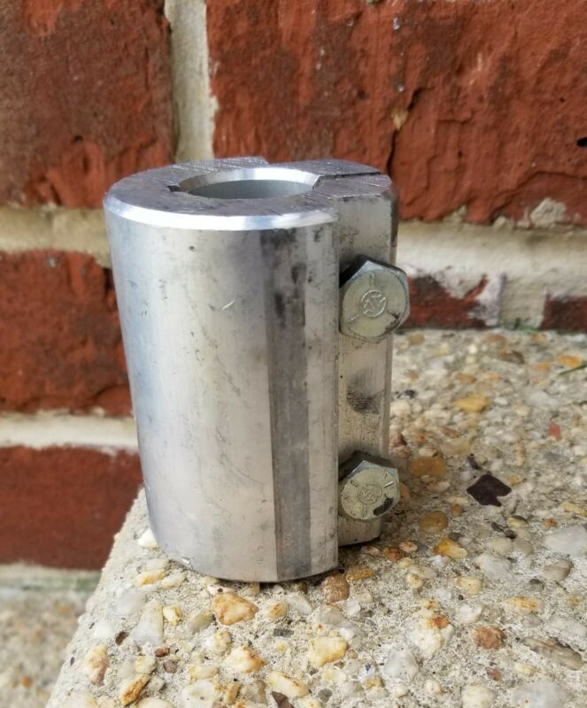 1 × 1 inches Aluminium Coupling - 100% Aluminium for Motor Shaft to drive shaft