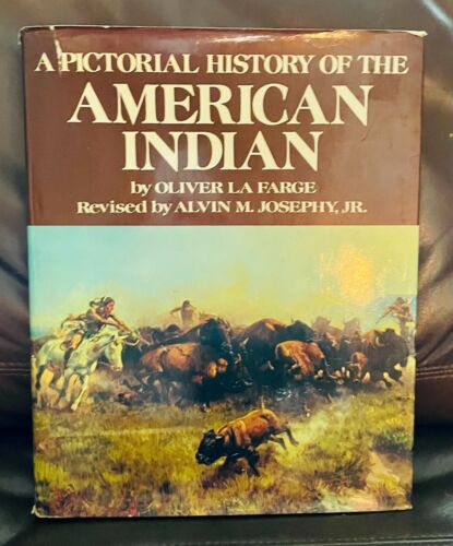 AMERICAN INDIAN OLIVER LA FARGE LARGE BOOK HARDBACK EXCELLENT COND. DUST JACKET