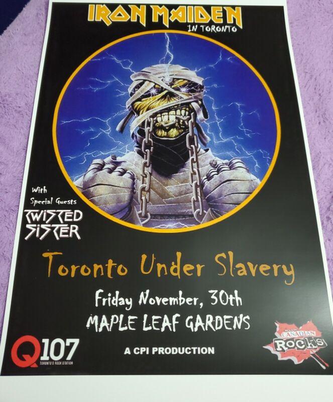 Iron Maiden Slavery In Toronto Poster