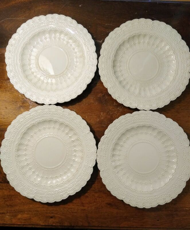 "Set Of Four Copeland Spode China Jewel Eggshell 9"" Breakfast Plates Hard To Find"