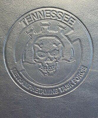 Leeds Black Leather Zippered Organizer Portfolio Embossed Tennessee Task Force