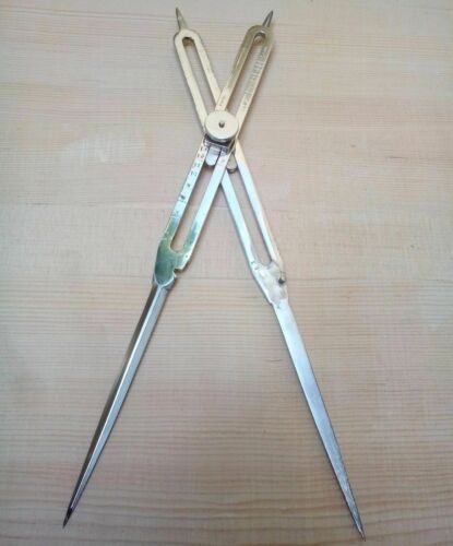 "8"" INCH BRASS ANTIQUE DRAFTING TOOL PROPORTIONAL DIVIDER SCIENTIFIC INSTRUMENT"