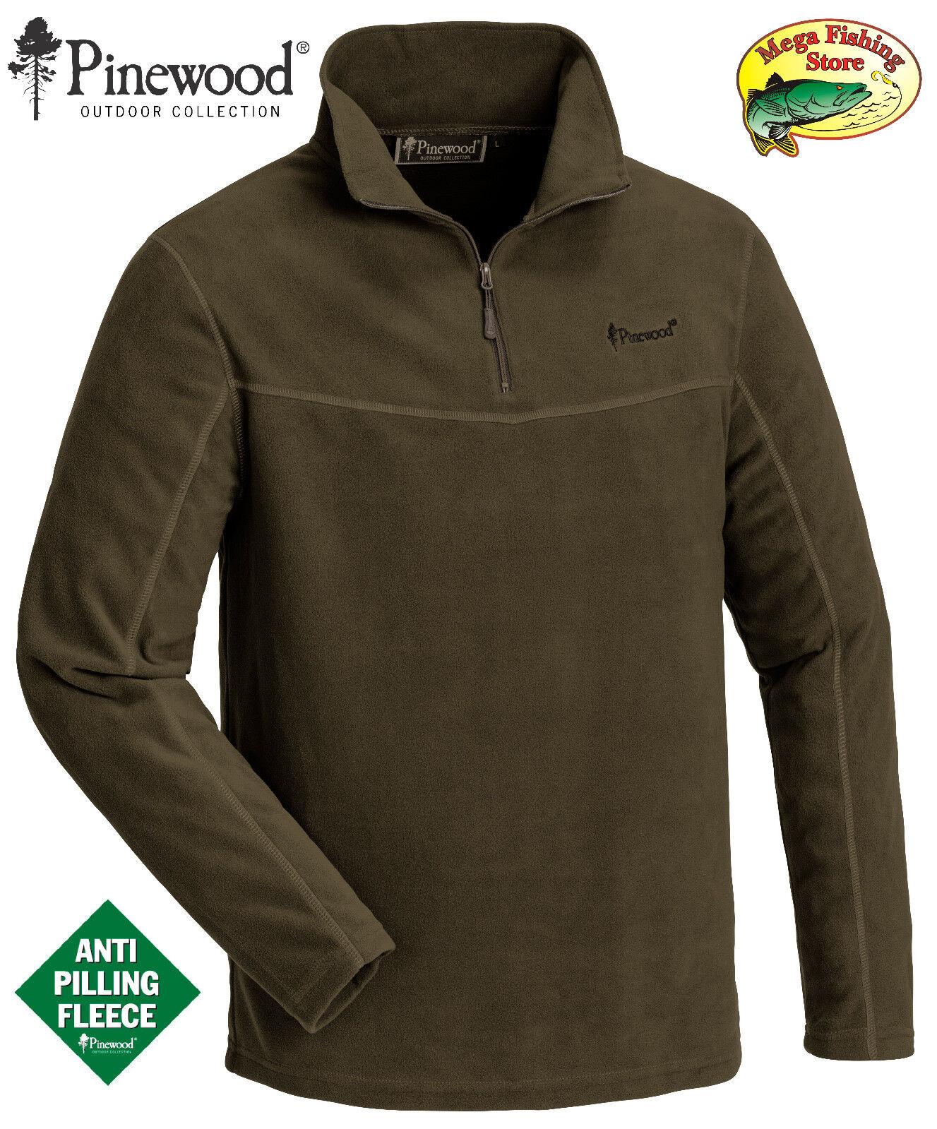 Pinewood 5069 Tiveden Fleece Pullover Jacke Outdoor Fleecejacke Freizeit - Grün