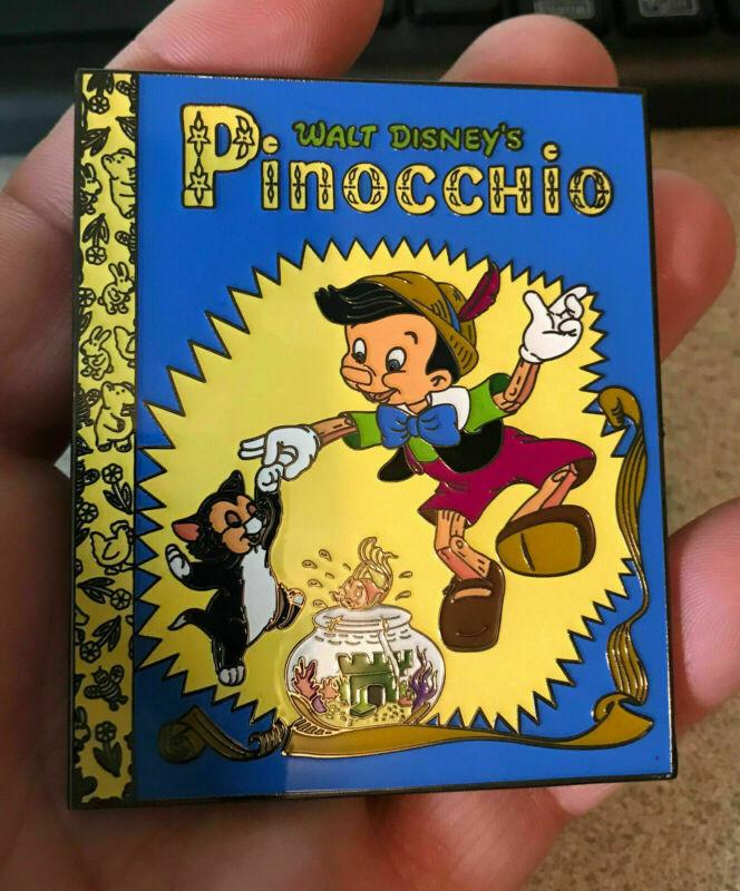 PIN PINOCCHIO JUMBO FANTASY FIGARO CLEO LITTLE GOLDEN BOOK 3 INCH LIMITED EDITIO