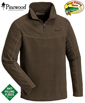 Pinewood 5069 Tiveden Fleece Pullover Jacke Outdoor Fleecejacke Wildlederbraun