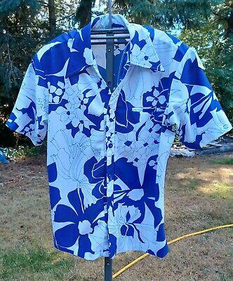 1970s Men's Shirt Styles – Vintage 70s Shirts for Guys 1970s Vtg Liberty House Tropicana Hawaii Groovy Polyester Hawaiian Shirt Floral $24.00 AT vintagedancer.com