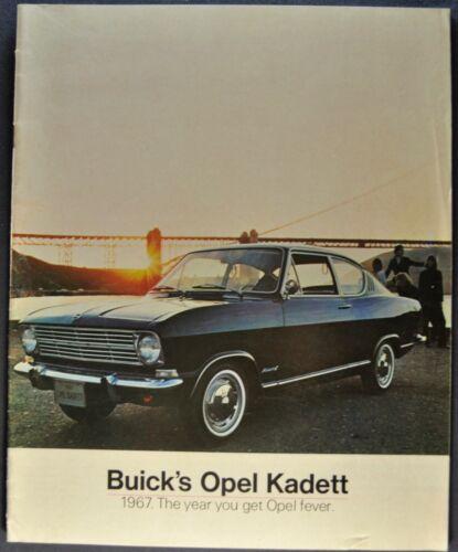 1967 Opel Kadett Brochure Rallye Sport Coupe Sedan Wagon Nice Original 67
