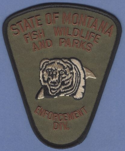 STATE OF MONTANA STATE FISH WILDLIFE & PARKS ENFORCEMENT SHOULDER PATCH
