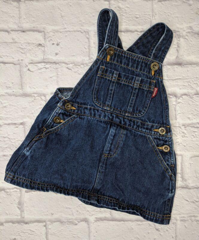 Peony Baby Toddler Girls Denim Overall Jumper 18-24 Months Blue Jean Skirt
