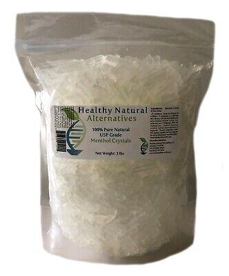 Premium 100% Pure Organic USP Grade Natural Menthol Crystals - Free Shipping