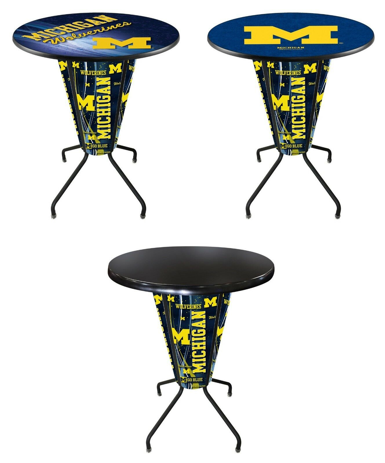 Phenomenal Details About Ncaa Lighted L218 42 Michigan Pub Table Black College Team Logo Gmtry Best Dining Table And Chair Ideas Images Gmtryco