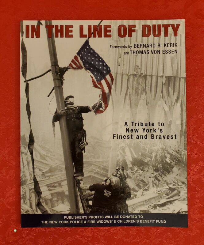 IN THE LINE OF DUTY Tribute New York's Finest Bravest Photography SC Book NYC