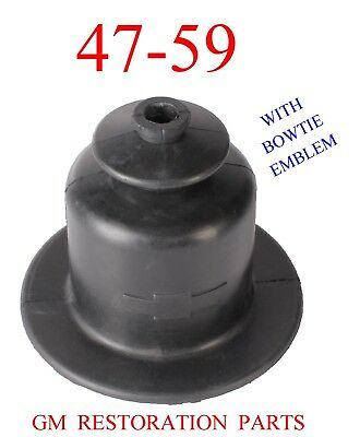47 59 Chevy Truck Shifter Boot With Emblem, GM Restoration Parts, Suburban Panel 55 Chevy Restoration Parts