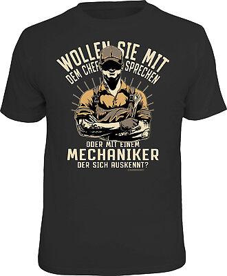 Herren T-Shirt bedruckt - Chef oder Mechaniker - lustige Geschenke für Männer ()