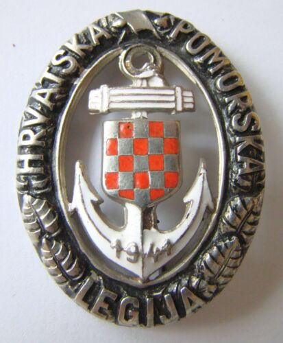 Croatia NDH Croatian WWII Navy LEGJIA RARE Badge ! order , medal , Germany