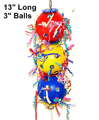 Parrot Toy Play Balls for pet bird parrot cage toy mini macaw cockatoo amazon