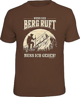 T-Shirt Wenn der Berg ruft muss ich gehen! S M L XL XXL