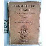Antique Charakteristische Detail folio 100 plates BERLIN HUGO LICHT Architecture
