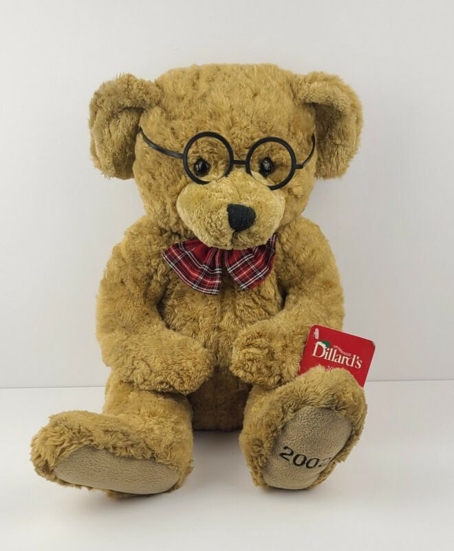 Dillards Handsome 2002 Theodore 100th Anniversary Teddy Bear Plush Glasses Tie
