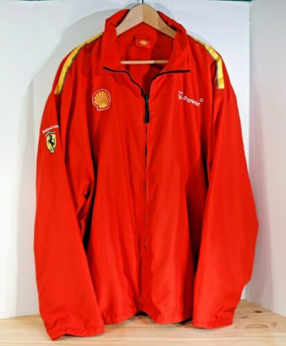 "SHELL V-Power / Ferrari F1 Red Fleece Lined Full Zip ""racing"" Jacket, Men"
