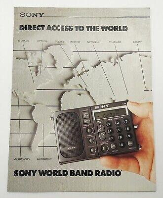 Vintage 1989 Sony World Band Radio Ad Brochure Booklet