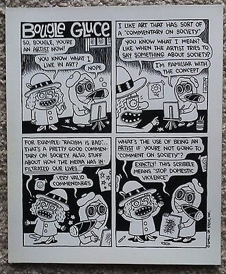 SMELL OF STEVE original comic strip art Brian Sendelbach: BOUGLE GLUCE: ARTIST
