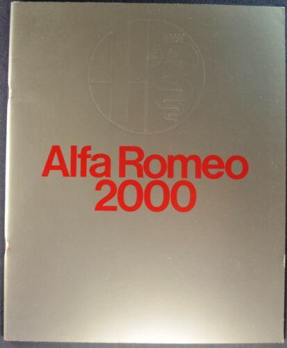 1972 Alfa Romeo 2000 Brochure Spider Veloce GT Coupe Berlina Excellent Original