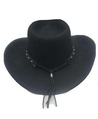 Jack Daniels Black Western Cowboy Hat, 100% Wool, Size large, Made in USA