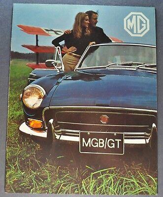 1971 MG MGB GT Catalog Sales Brochure Excellent Original 71