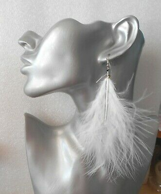 Sexy Fluffy Marabou Feather Earrings 4-6