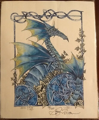 """""""Knots & Ivy"""" print by Amy Brown 8 X 10 signed / numbered - Dragon / Knots / Ivy"""