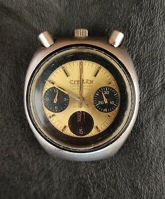 Vintage Citizen 67-9143 Bullhead Automatic Chronograph 23 JEWELS Brad Pitt VE