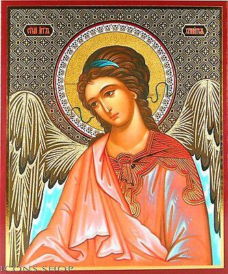 Russian Icon Guarding Angel Ангел Хранитель Икона Ángel de la Guarda Icono15X18
