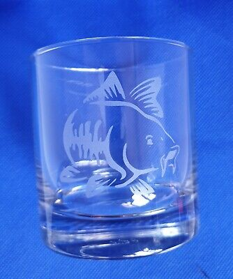 CARP FISHING COURSE SPECIMEN ANGLER ANGLING WHISKEY GLASS BIRTHDAY GIFT DAD